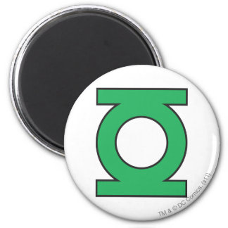 Green Lantern Symbol 6 Cm Round Magnet