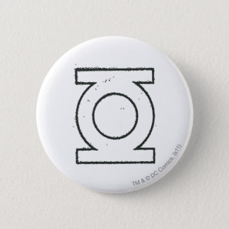 Green Lantern Symbol BW 6 Cm Round Badge