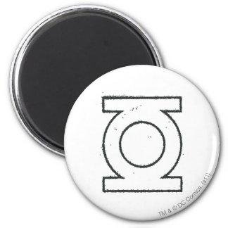Green Lantern Symbol BW 6 Cm Round Magnet