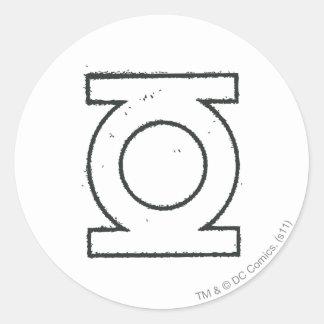 Green Lantern Symbol BW Classic Round Sticker