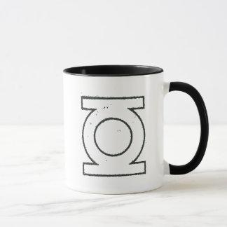 Green Lantern Symbol BW Mug