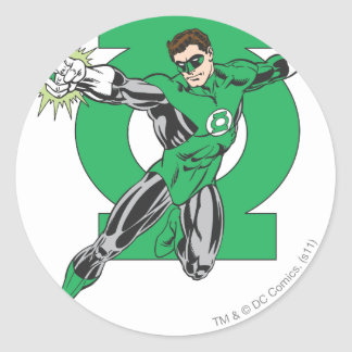 Green Lantern & Symbol Classic Round Sticker