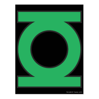 Green Lantern Symbol Postcard