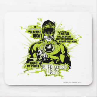 Green Lantern Text Collage - Color Mousepad