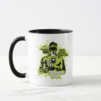 Green Lantern Text Collage - Color Mug