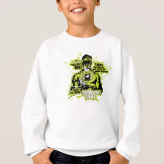 Green Lantern Text Collage - Color Sweatshirt