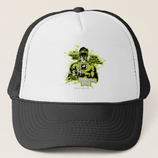 Green Lantern Text Collage - Color Trucker Hat