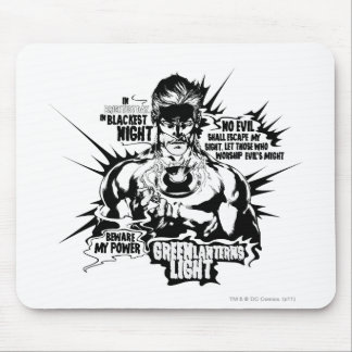 Green Lantern Text Collage Mouse Mat
