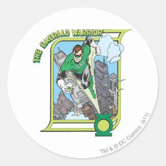 Green Lantern - The Emerald Warrior Classic Round Sticker