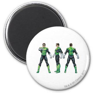 Green Lantern Three Views 6 Cm Round Magnet
