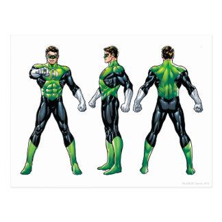 Green Lantern Three Views Postcard