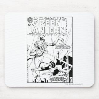 Green Lantern vs Clown, Black and White Mouse Mat