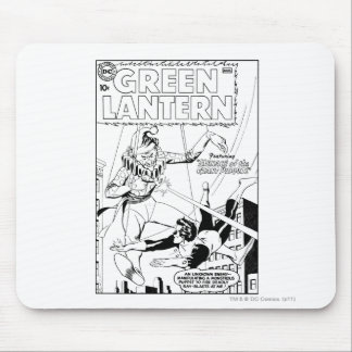 Green Lantern vs Clown Black and White Mouse Pads