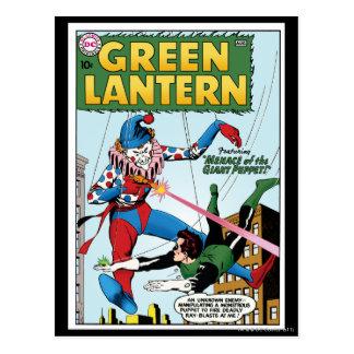 Green Lantern vs Clown Postcard