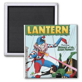 Green Lantern vs Clown Square Magnet