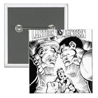 Green Lantern vs Green Lantern, Black and White 15 Cm Square Badge