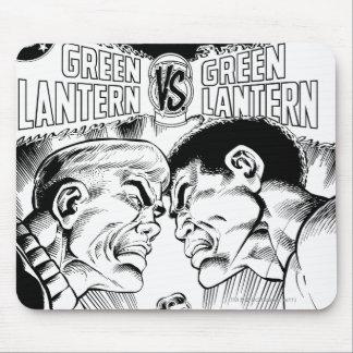 Green Lantern vs Green Lantern, Black and White Mouse Mat