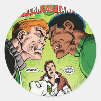 Green Lantern vs Green Lantern Classic Round Sticker
