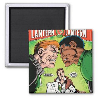 Green Lantern vs Green Lantern Square Magnet