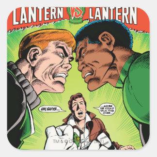 Green Lantern vs Green Lantern Square Sticker