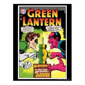 Green Lantern vs Sinestro Postcard