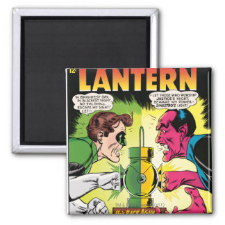 Green Lantern vs Sinestro Square Magnet