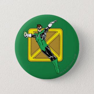 Green Lantern  with Background 6 Cm Round Badge
