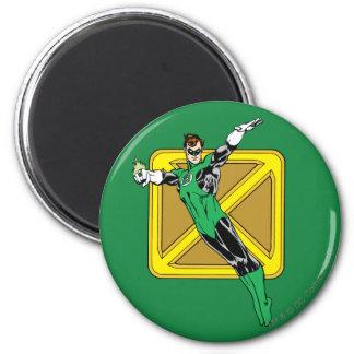 Green Lantern  with Background 6 Cm Round Magnet