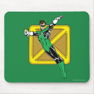 Green Lantern  with Background Mouse Pad