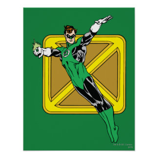 Green Lantern  with Background Poster