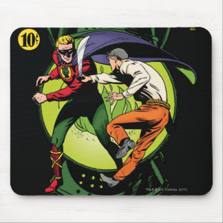 Green Lantern with cape in fight Mouse Pad