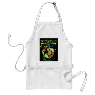Green Lantern with cape in fight Standard Apron