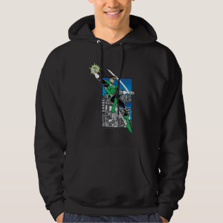 Green Lantern with City Background Hoodie