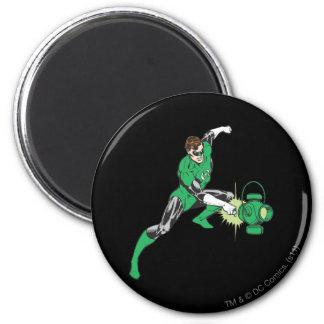 Green Lantern with Lantern 2 6 Cm Round Magnet