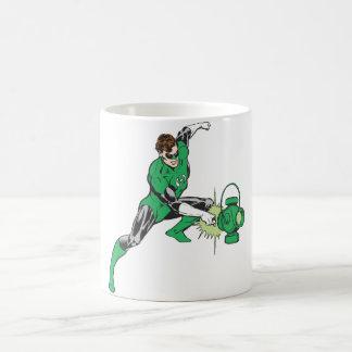 Green Lantern with Lantern 2 Basic White Mug