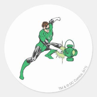 Green Lantern with Lantern 2 Classic Round Sticker