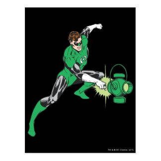 Green Lantern with Lantern 2 Postcard