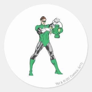 Green Lantern with Lantern Classic Round Sticker