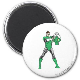 Green Lantern with Lantern Fridge Magnet
