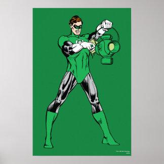 Green Lantern with Lantern Poster