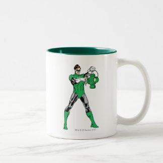 Green Lantern with Lantern Two-Tone Mug