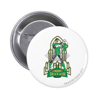 Green Lantern with Letters 6 Cm Round Badge