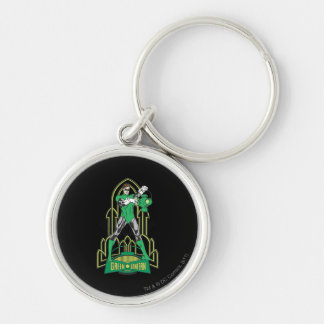 Green Lantern with Letters Key Ring