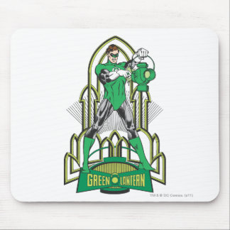 Green Lantern with Letters Mouse Pad