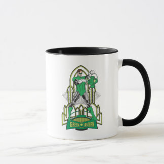 Green Lantern with Letters Mug