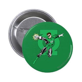 Green Lantern with Logo Background 6 Cm Round Badge