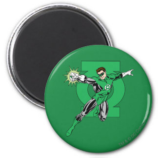Green Lantern with Logo Background Magnet