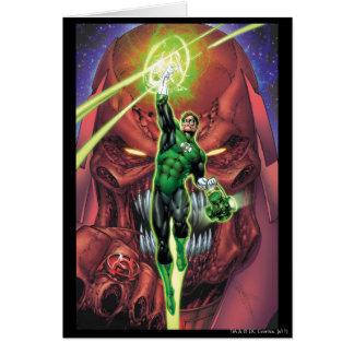 Green Lantern with stream of light - Color Card