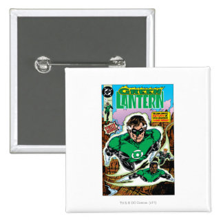 Green Lanterns Flying 15 Cm Square Badge