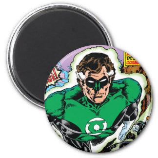 Green Lanterns Flying 6 Cm Round Magnet